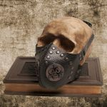Cyber Goth Biohazard Sign Gaz Mask, Respirator