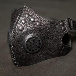 Post apocalyptic gas mask, respirator, gas mask silver color
