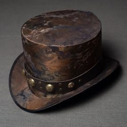 Post apocalyptic clothing, hat, top hat, post apocalyptic items top hat