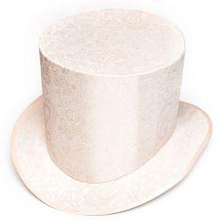 Головной убор. Шляпа цилиндр нежного бежевого цвета. Под заказ.