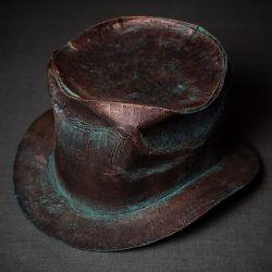 Шляпа цилиндр в стиле стимпанк старая медь
