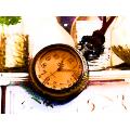 Стимпанк часы карманные викторианской эпохи - карта мира.