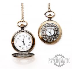 Часы карманные с ажурной откидной крышкой - лилия.