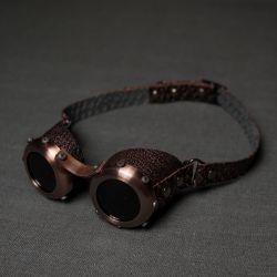 Стильные очки в стиле стим панк арт из коллекции 2015 года Старая Медь