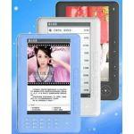 Мультимедийная электронная книга с цветным 7'' дисплеем, разрешением экрана 800х480 пикселей, поддержкой видео в формате 1280х720 (720P) ФМ тюнером, календарем и возможностью проигрывания музыки в формате LOSSLESS.