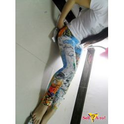 Джеггинсы, леггинсы под джинсы с принтом.