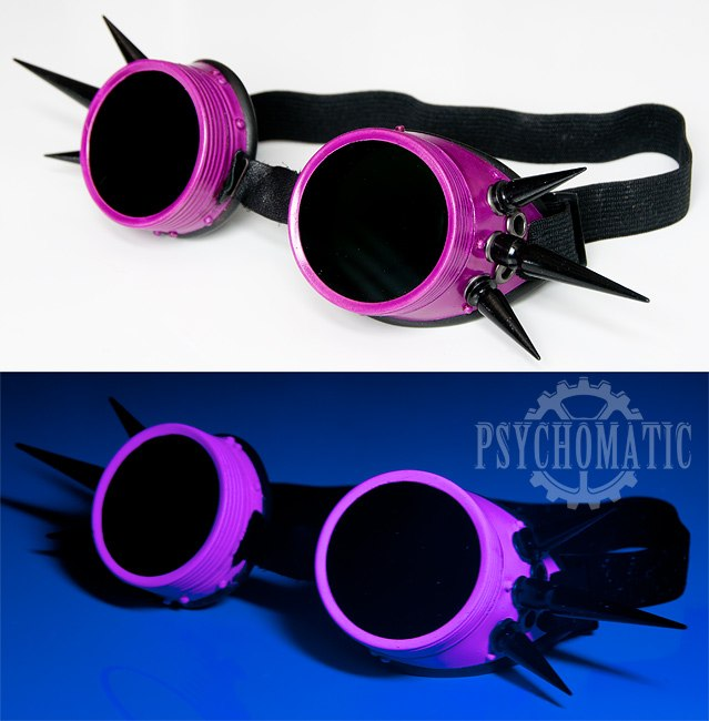 Кибер гот очки гогглы Розовый Фламинго фото