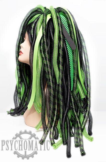 Киберлоки черные и зеленые