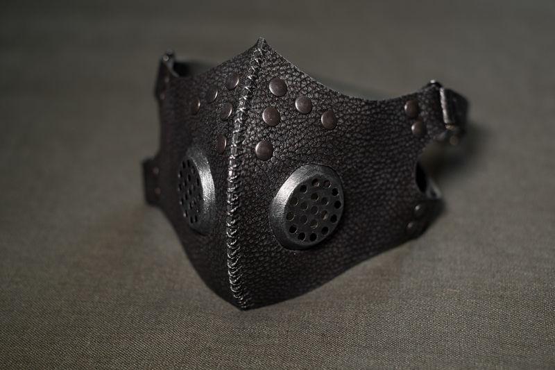 Post apocalyptic gas mask, respirator silver color