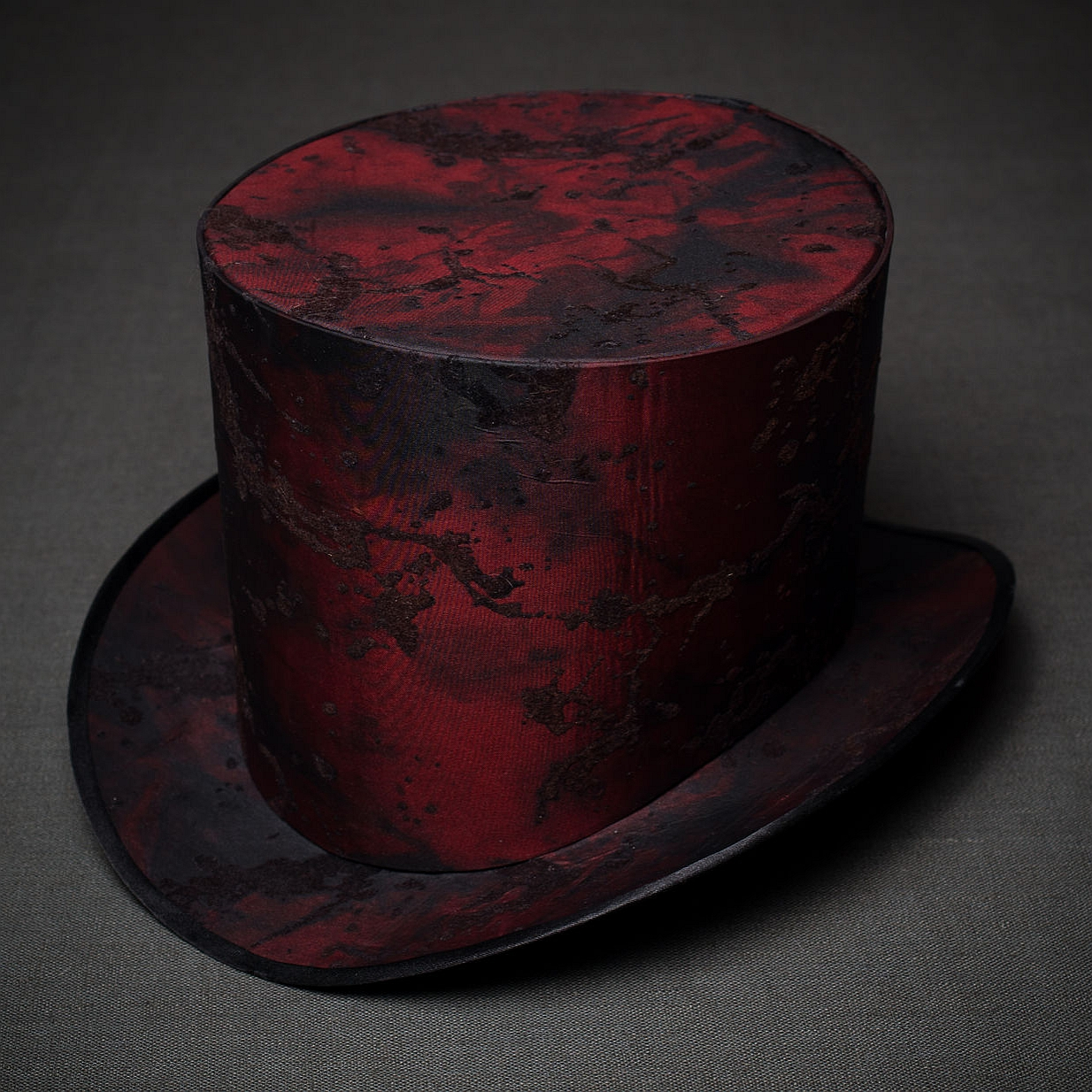 стимпанк шляпа-цилиндр красный закат реинкарнация