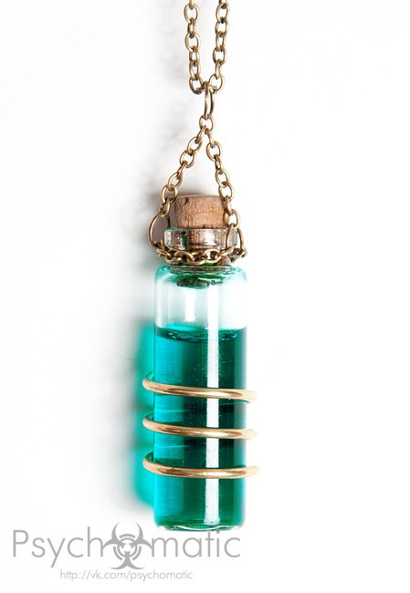 Флакон (склянка, пузырек, стекляшка, сосуд, колба) с алхимической жидкостью