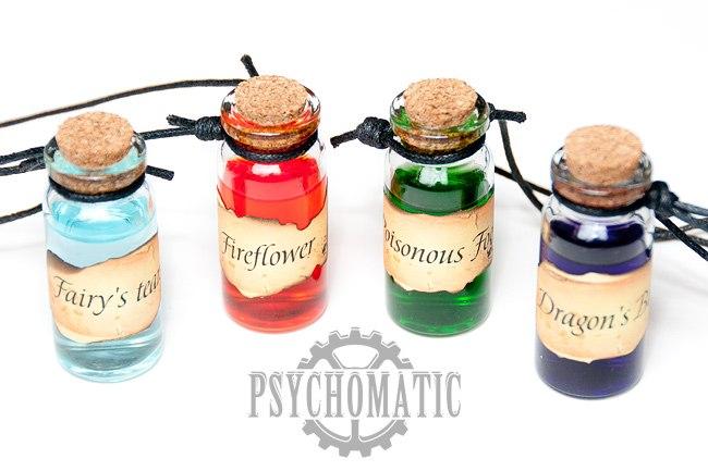 Подвески стимпанк киберпанк алхимические склянки на заказ
